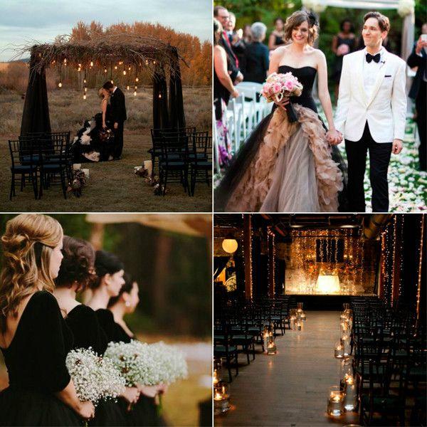 Чорна весілля: ідеї, фото і поради