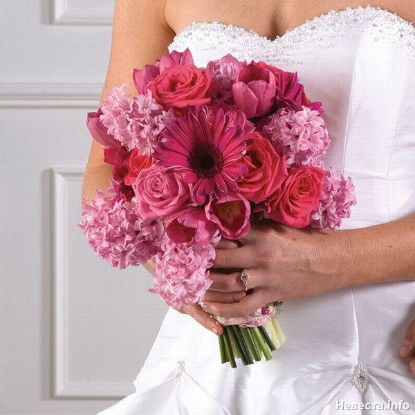 Літній весільний букет: варіанти кольорів і їх відтінків