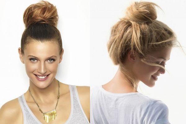 Зачіска пучок з фото - варіанти улюбленої зачіски