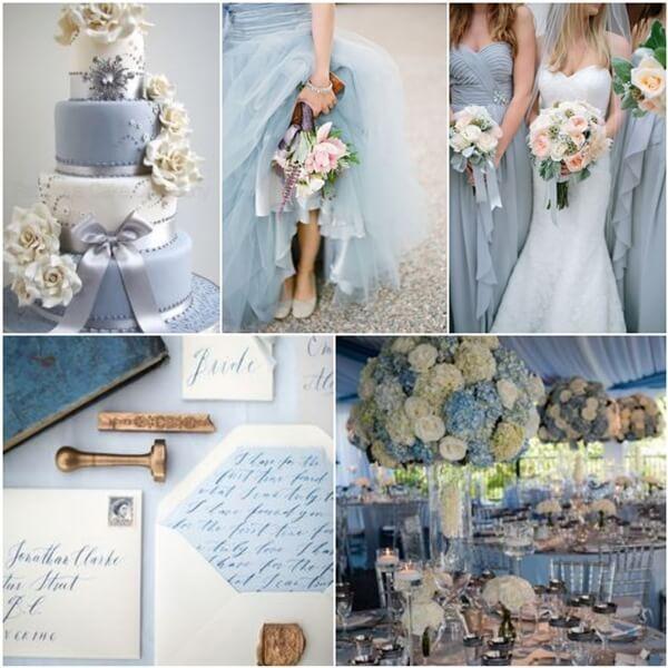 Весілля в біло-синьому кольорі: правила поєднання кольорів