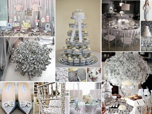 Весілля в срібному кольорі: зимова казка для двох