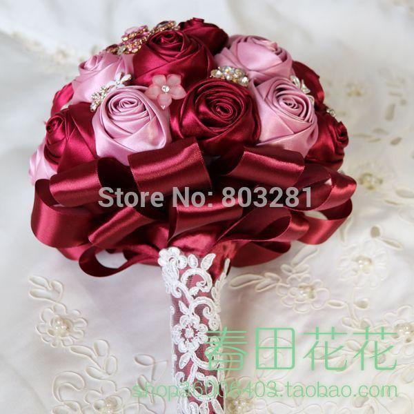 Весільний букет з атласних стрічок своїми руками - прекрасний аксесуар для нареченої