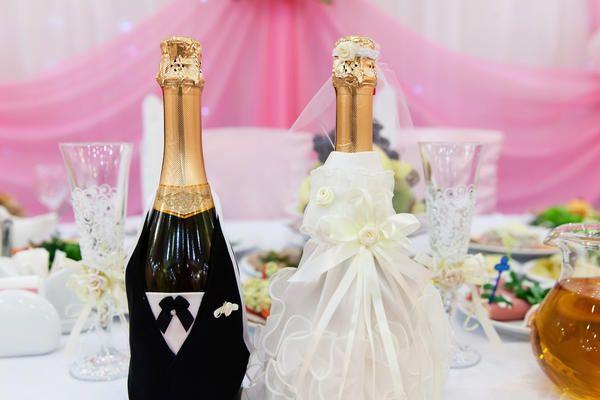 Прикраси келихів на весілля своїми руками: кращі ідеї хенд мейкер