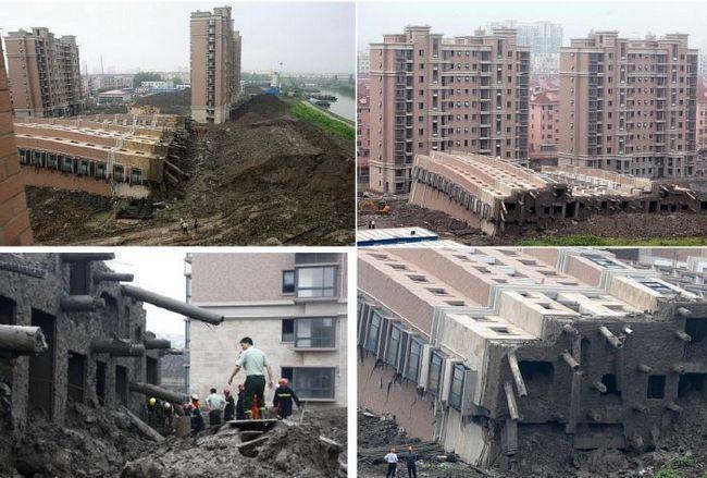 Жителі сусідніх будинків були ошелешені зранку: абсолютно нова 13-ти поверхівка просто рухнула